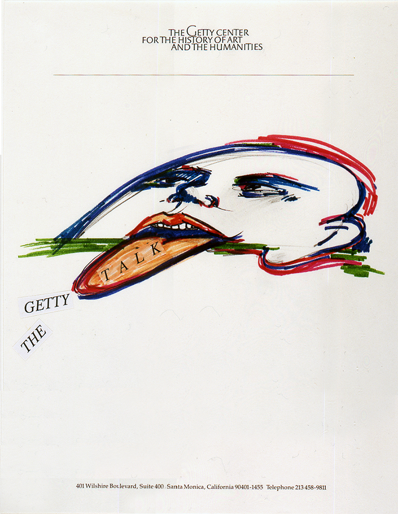 The Getty Talk, title page 1991