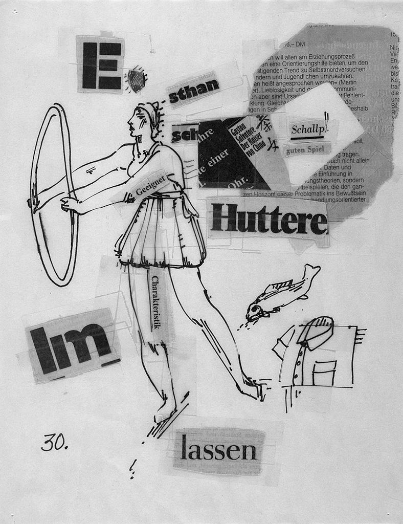ZEIT-collages sheet 30 1980