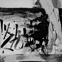 Assemblagen, Ohne Titel (Stuhlbeine und Tischtuch), 1960