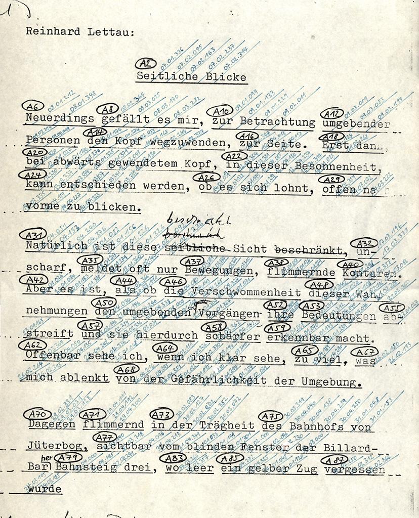 Der Mann von Jüterbog, 1995, Partitur