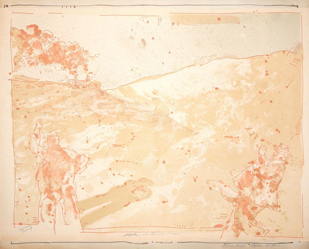 Lithographie, Ohne Titel 1972