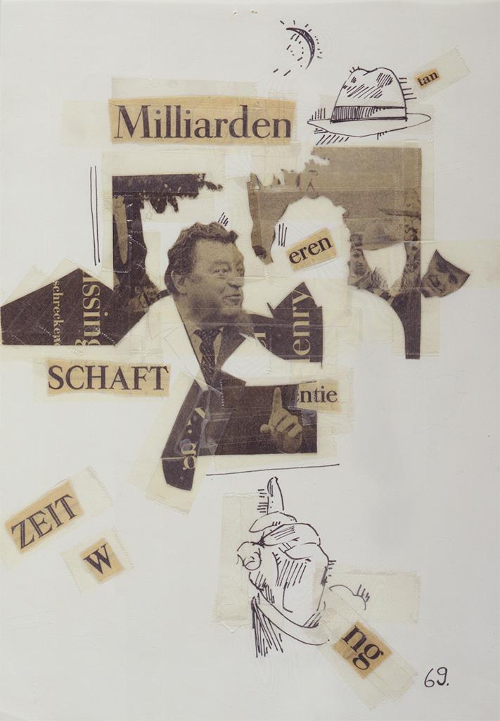 ZEIT-Collagen, Blatt 69, 1980