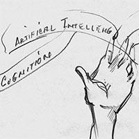 Skizzen und Notizen, Artific[i]al Intell[igence]/Cognition/Klotz u. a., um 1997